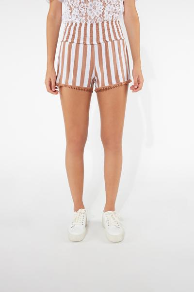Shorts de Tela Cardada Punto Smock
