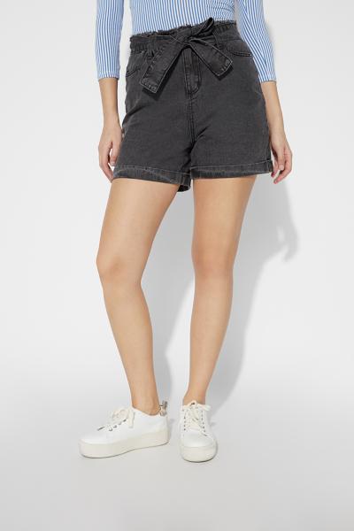 Jeans-Shorts mit Schärpe
