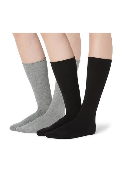 2 X 3/4 Length Fashion Socks with Appliqués