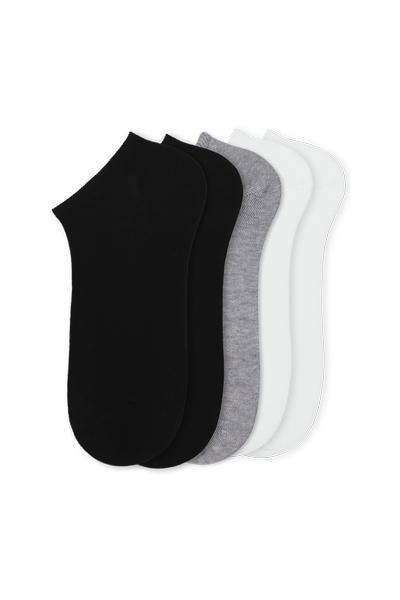 5 X LOW CUT COTTON SOCKS