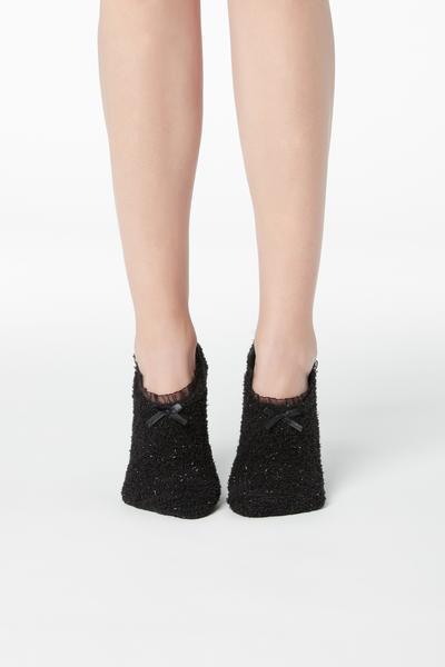 Meias-Bailarinas Antiderrapantes Glitter