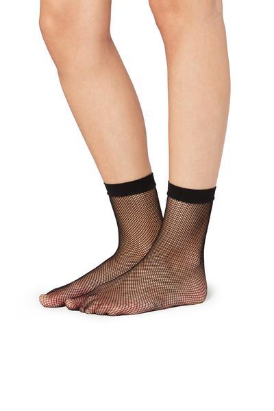 Micro-Fishnet Socks