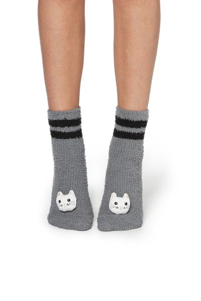 Non-Slip Socks with Appliqués