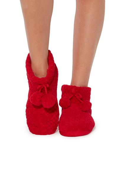 Devoré Pile Slipper Boots