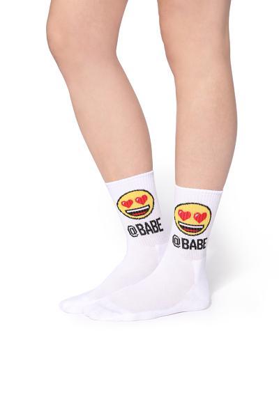 Trištvrťové športové emoji ponožky