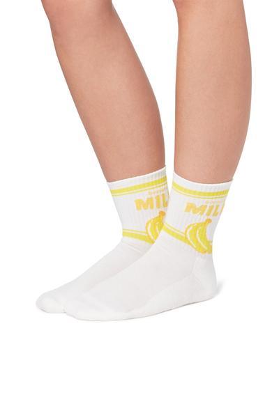 90s Fancy Sports Cotton Crew Socks