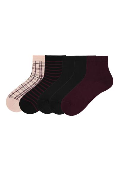 5 X Patterned Cotton Sock