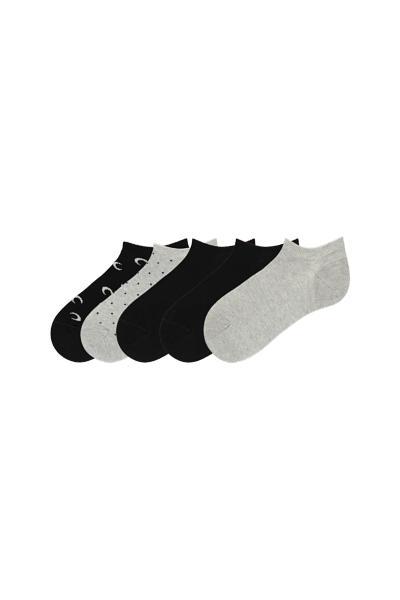 5 X Women's Low-Cut Cotton Socks