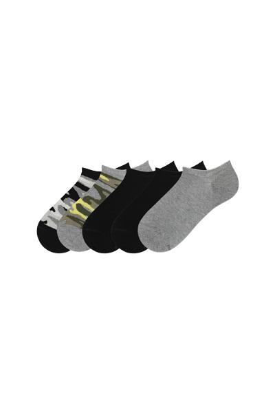 5 X Women's Low-Cut Cotton Socks