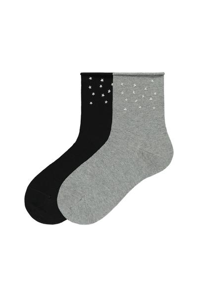 2 X Socks with Appliqués