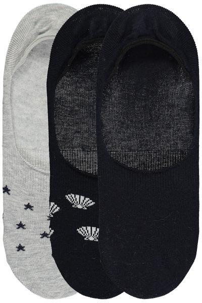 3er Pack Füßlinge mit Muster