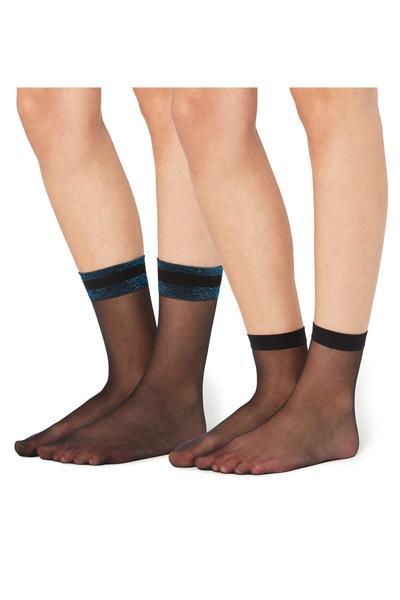 2 X 20 Denier Print-Detail Socks