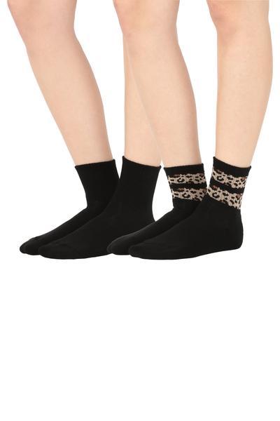 2x Vzorované Športové Bavlnené Ponožky
