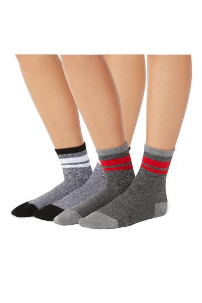 2 x Calcetines Deportivos Cortos Estampados de Algodón