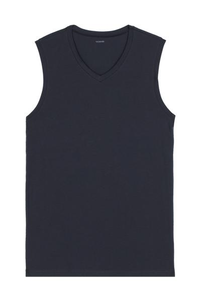 V-Neck Stretch-Cotton Vest Top