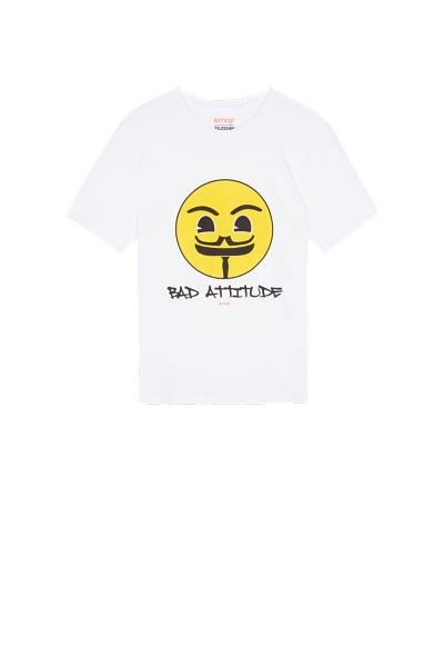 V Emoji Mintás Pamut Pizsamafelső