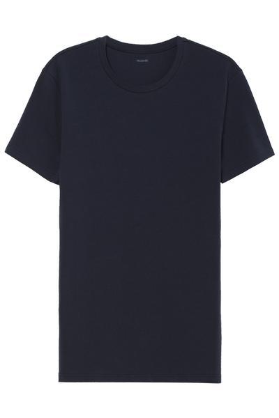 Camiseta Escote Redondo de Algodón Elastizado