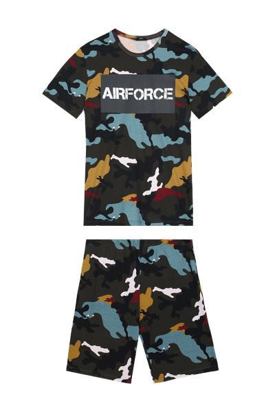 Airforce Cropped Pyjamas