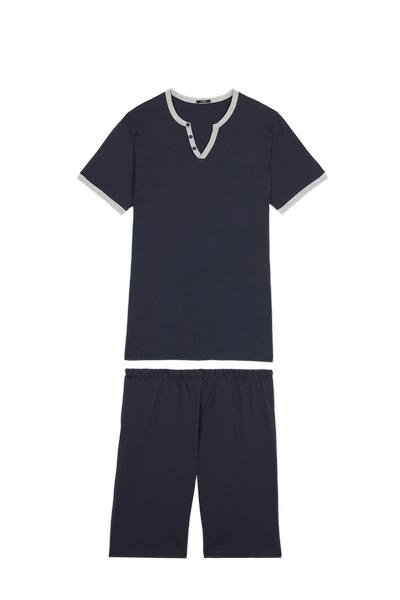 V Neck Short Pyjamas with Buttons
