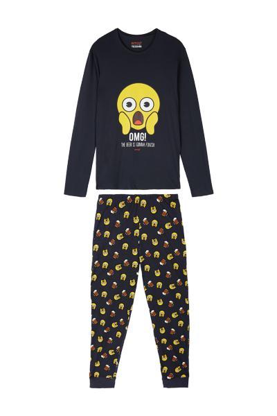 Dlhé Pyžamo s Emotikonom OMG