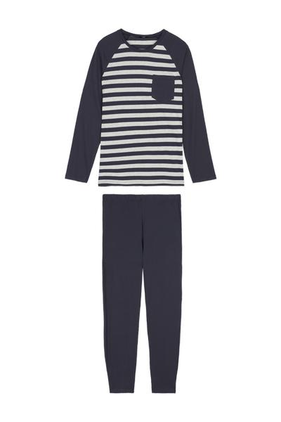 Striped Long Pyjamas with Pocket
