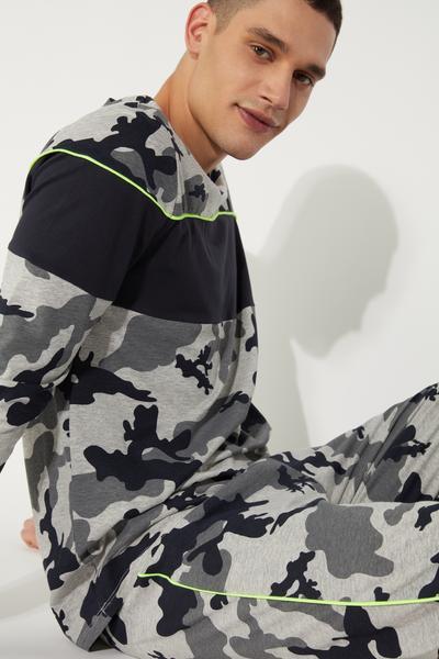 Long Camo Print Pyjamas
