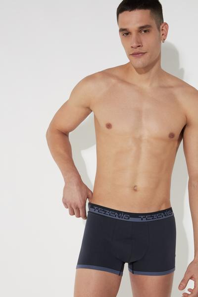 Cotton Boxers with Logo Waistband