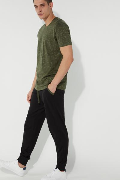 Jersey Long Pants with Trimmed Pockets
