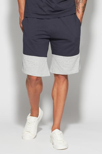 Shorts in Jersey Block Color