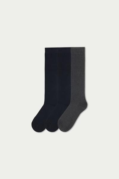 3 X Warm Cotton Knee-high Socks