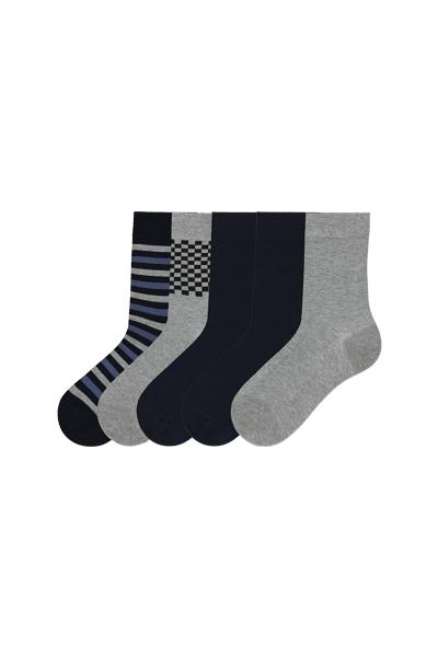 5 X Patterned Lightweight Cotton Sock