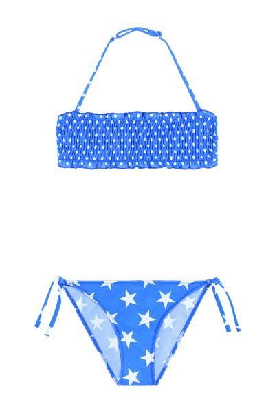 Bikini Bambina Fascia Punto Smock Pois/Stars