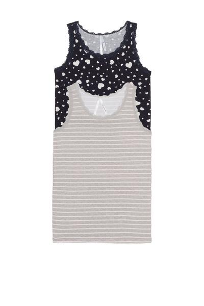 2 X Printed Lace Camisole Multipack