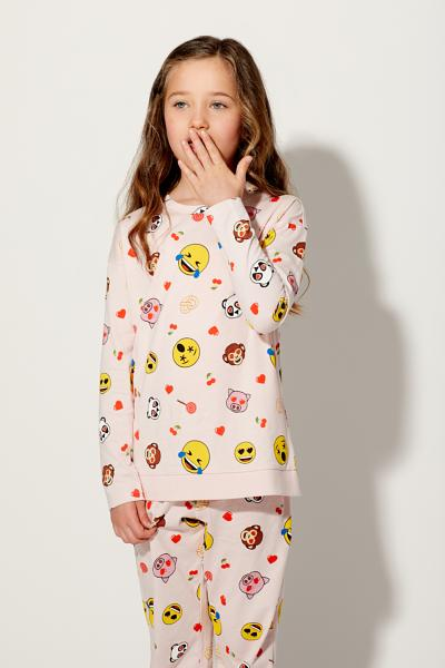 Long All-Over Emoji Pyjamas