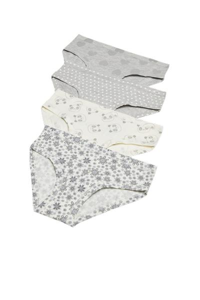Pack of 4 Printed Cotton Briefs