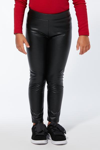 Thermal Leatherette Leggings