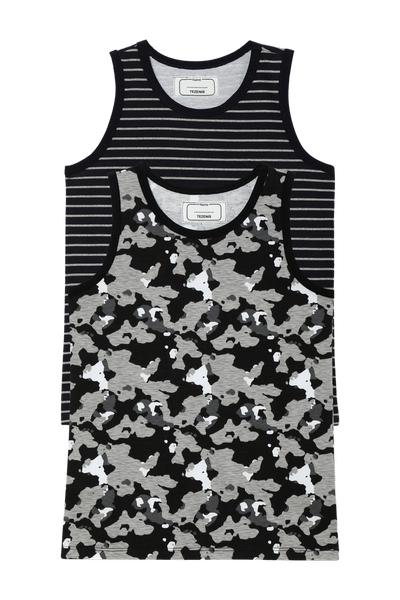 2 X Printed Vest Top Multipack