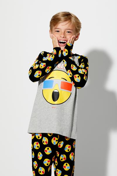 Long 3D Emoji Pyjamas