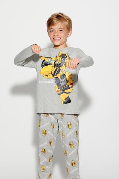 Dlouhé Žerzejové Pyžamo s Transformery