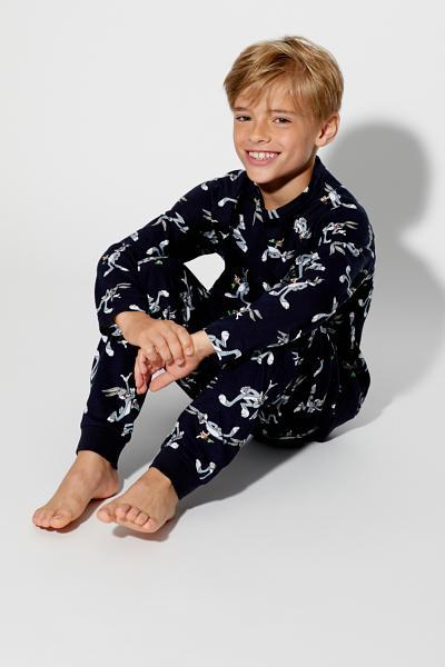 Langer Pyjama Bugs Bunny mit Allover-Print