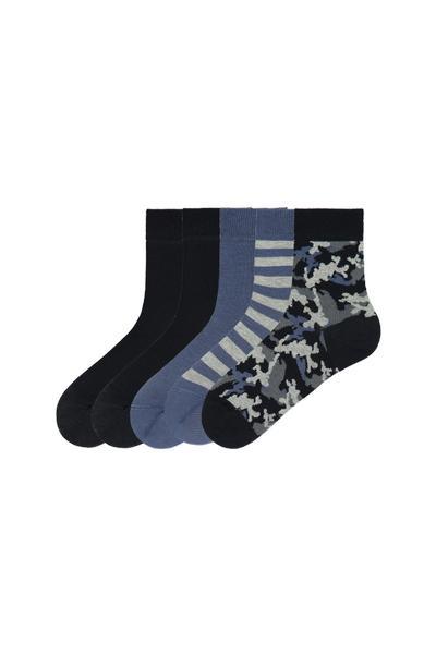 5er-Pack Kurze Socken Leichte Baumwolle Gemustert
