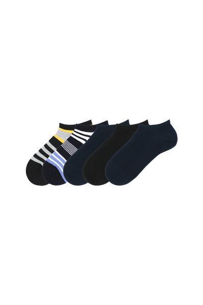 5er-Pack Sneakersocken aus Baumwolle Mustermix