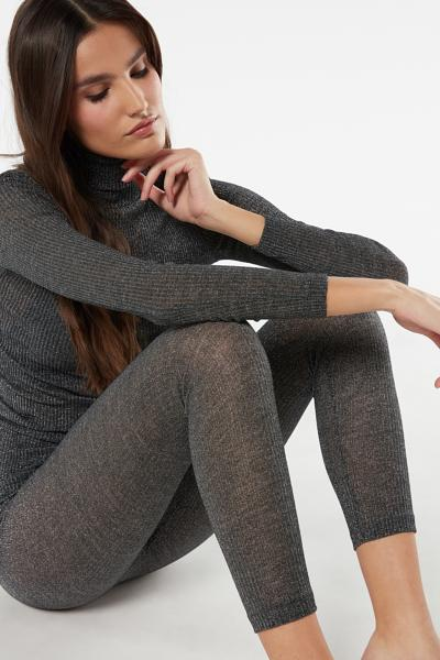 Wool and Silk Tubular Leggings