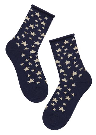 Children's Patterned Cotton Short Socks