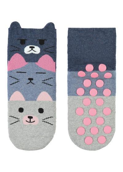 Calcetines cortos de algodón estampados y antideslizantes para niños