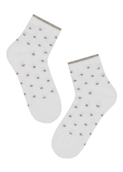 Kids' glitter cotton ankle socks