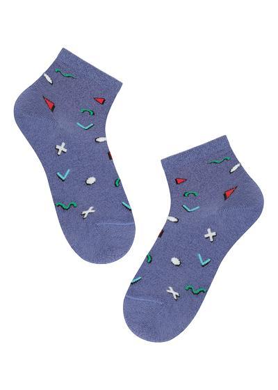 Detské vzorované bavlnené členkové ponožky