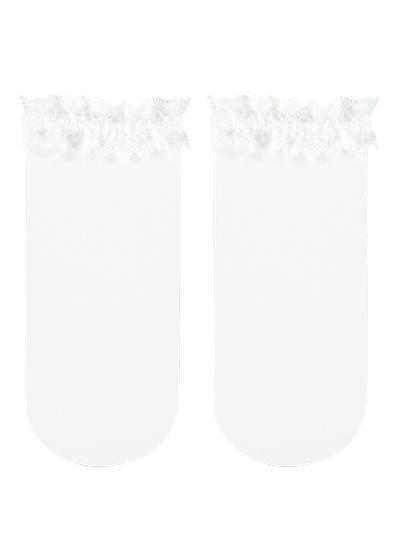 Girls' ankle socks with trim