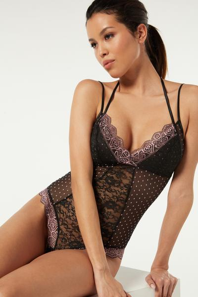 Crazy In Love Lace Body with Spaghetti Straps