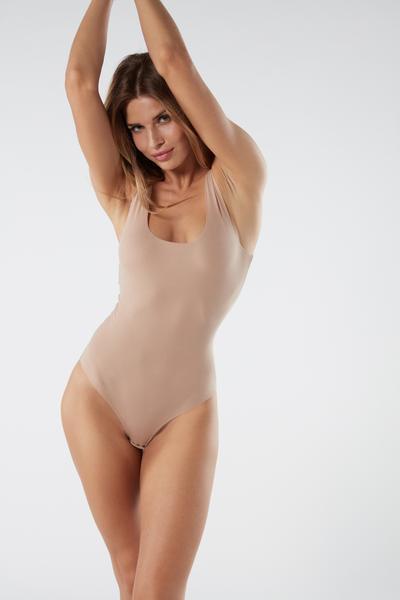 Body à Col Échancré en Coton Supima®